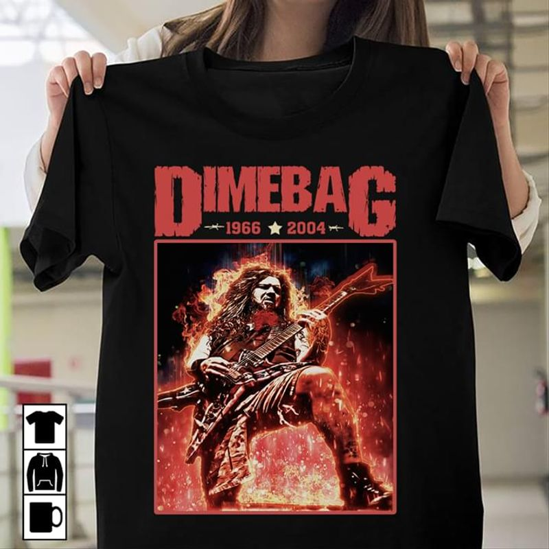 Dimebag Darrell American Musician Guitarist Pantera And Damageplan Band Black T Shirt Men And Women S-6XL Cotton