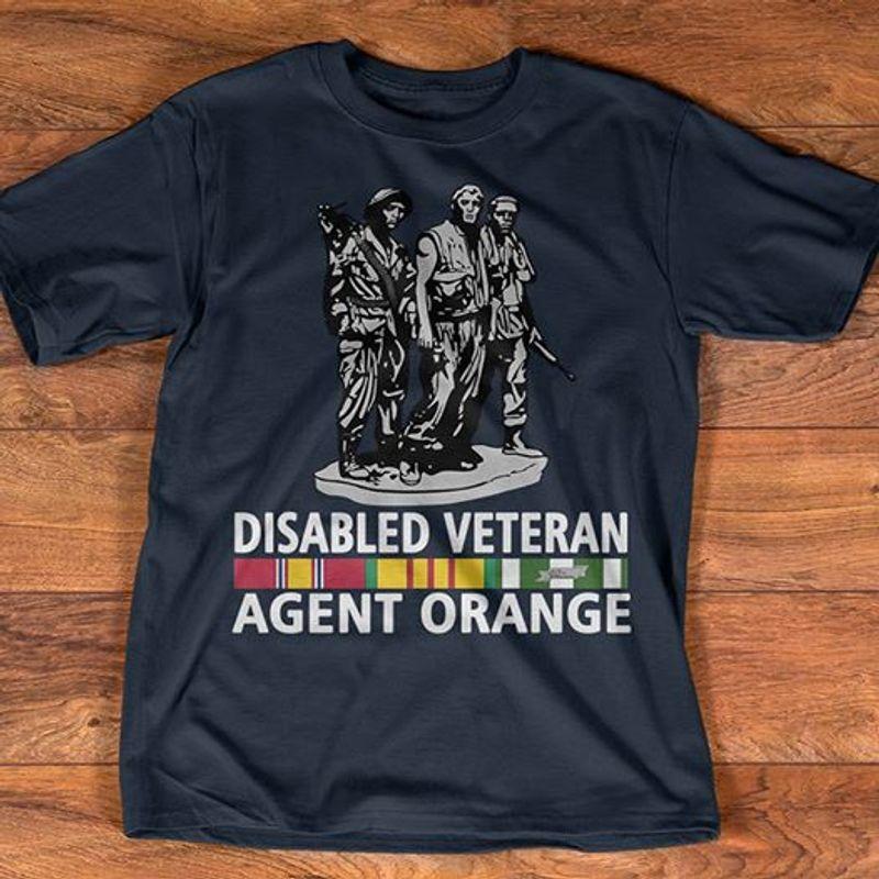 Disabled Veteran Agent Orange  T Shirt Black A5