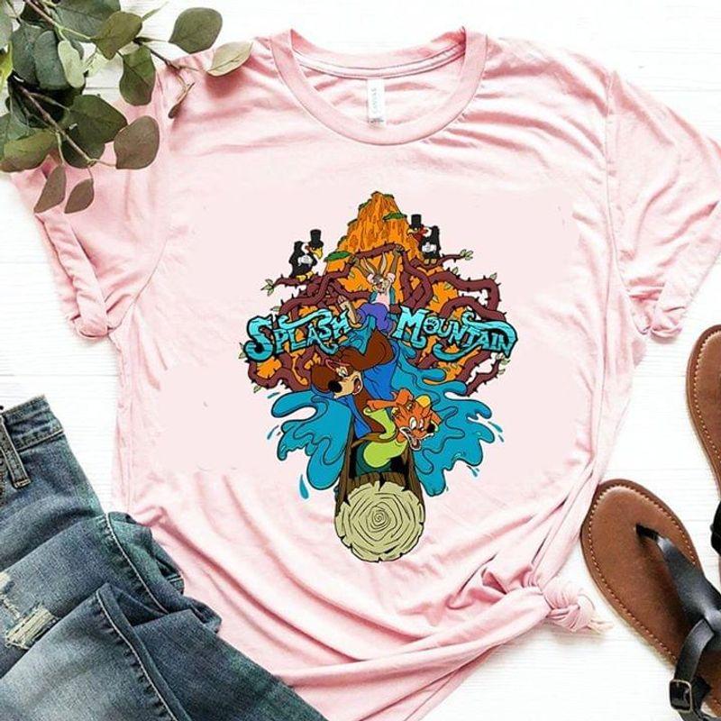 Disney Fans Splash Mountain Animal On The Log Gift For Cartoon Lovers Light Pink T Shirt Men And Women S-6XL Cotton