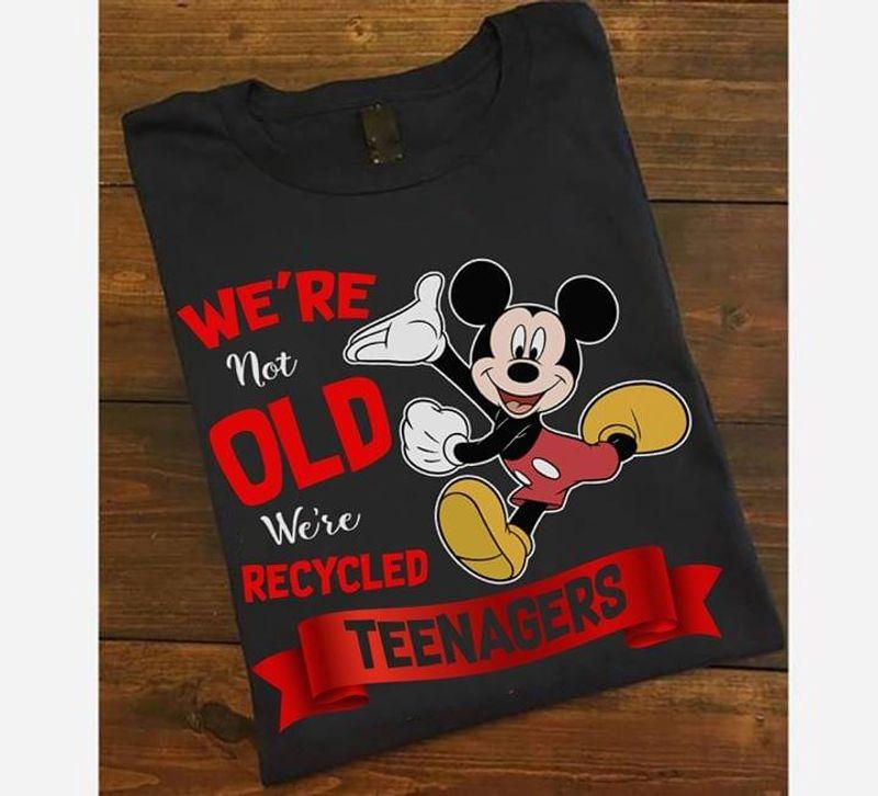 Disney Mickey T Shirt Mickey We're Not Old Funny Shirt Black T Shirt Men And Women S-6XL Cotton