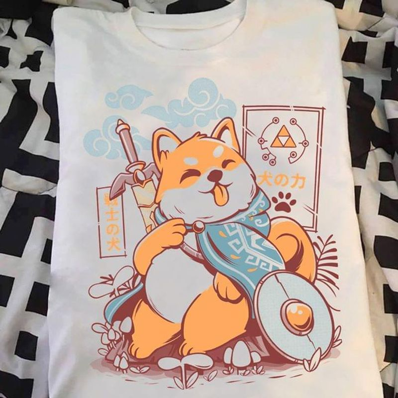 Dog Lovers Japanese Legend Of Zeldog Family Gift White T Shirt Men And Women S-6XL Cotton