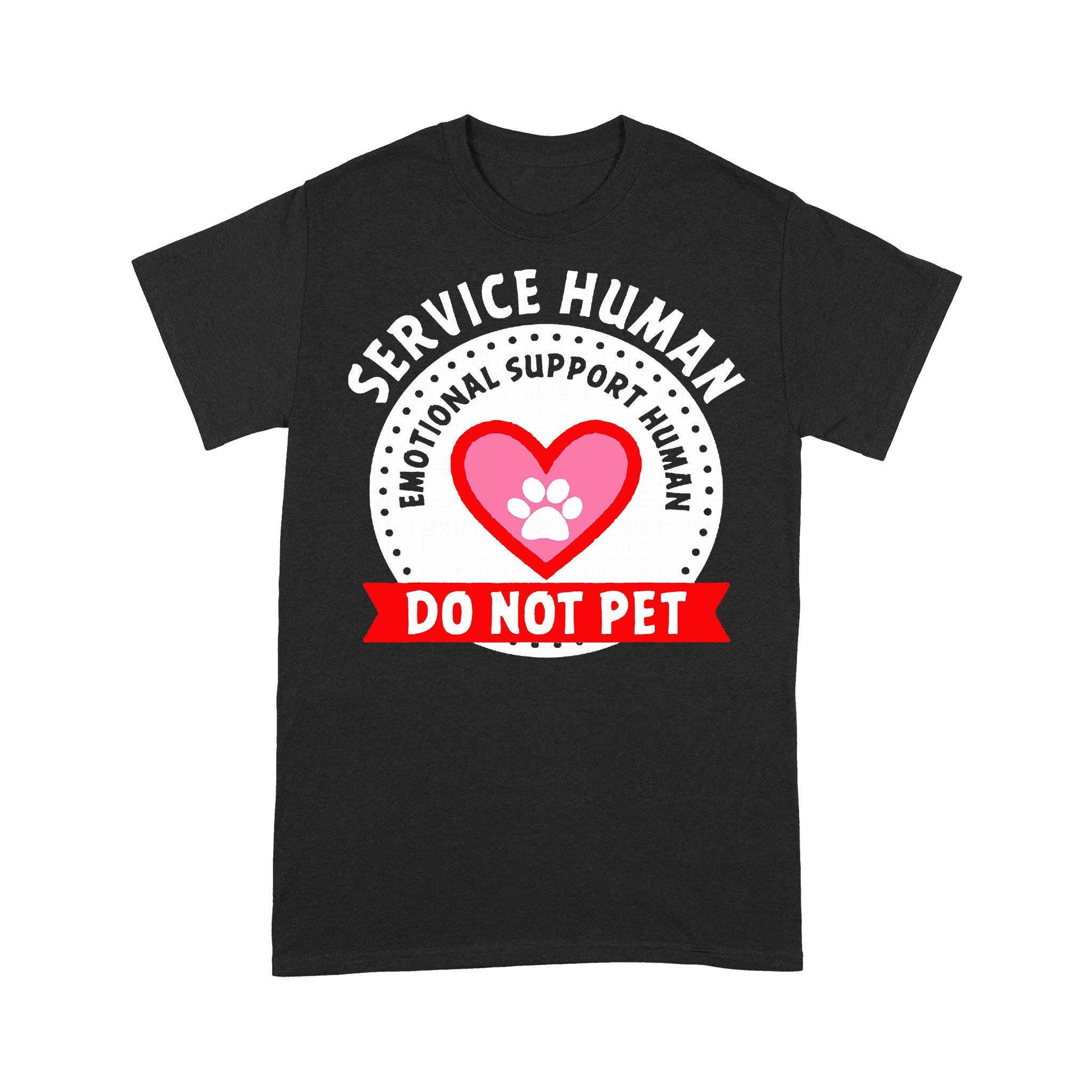 Dog Paw Service Human Emotional Support Do Not Pet T-shirt