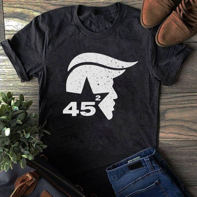 Donald Trump 45th Us President Trump President Election Vote For Trump Black T Shirt Men And Women S-6XL Cotton