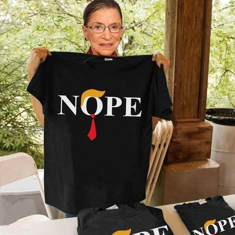 Donald Trump Nope T-shirt Black