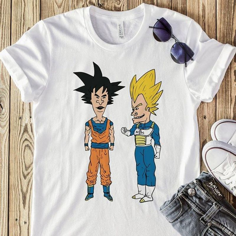 Dragon Ball Gohan And Vegeta Funny T-shirt Dragon Ball Suoersaiyan Inspired White T Shirt Men And Women S-6XL Cotton