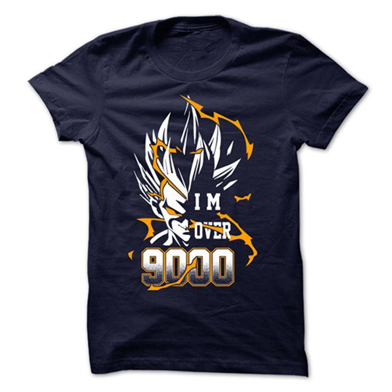 Dragon Ball Vegeta I Am Over 9000 T Shirt Black