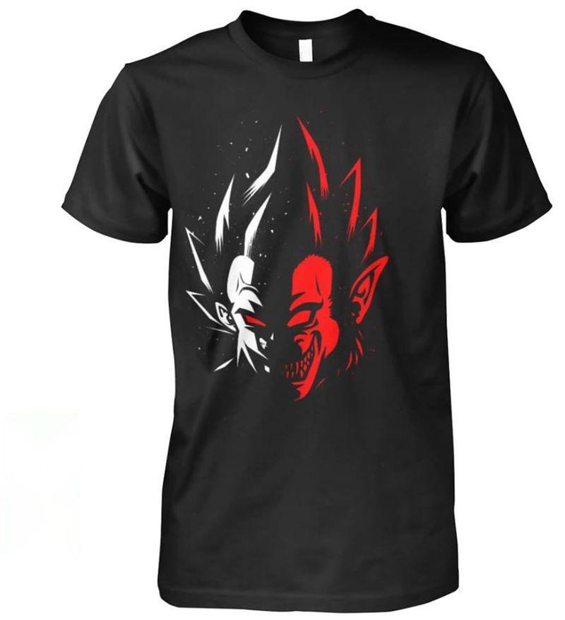 Dragon Ball Vegeta Two Face T Shirt Black
