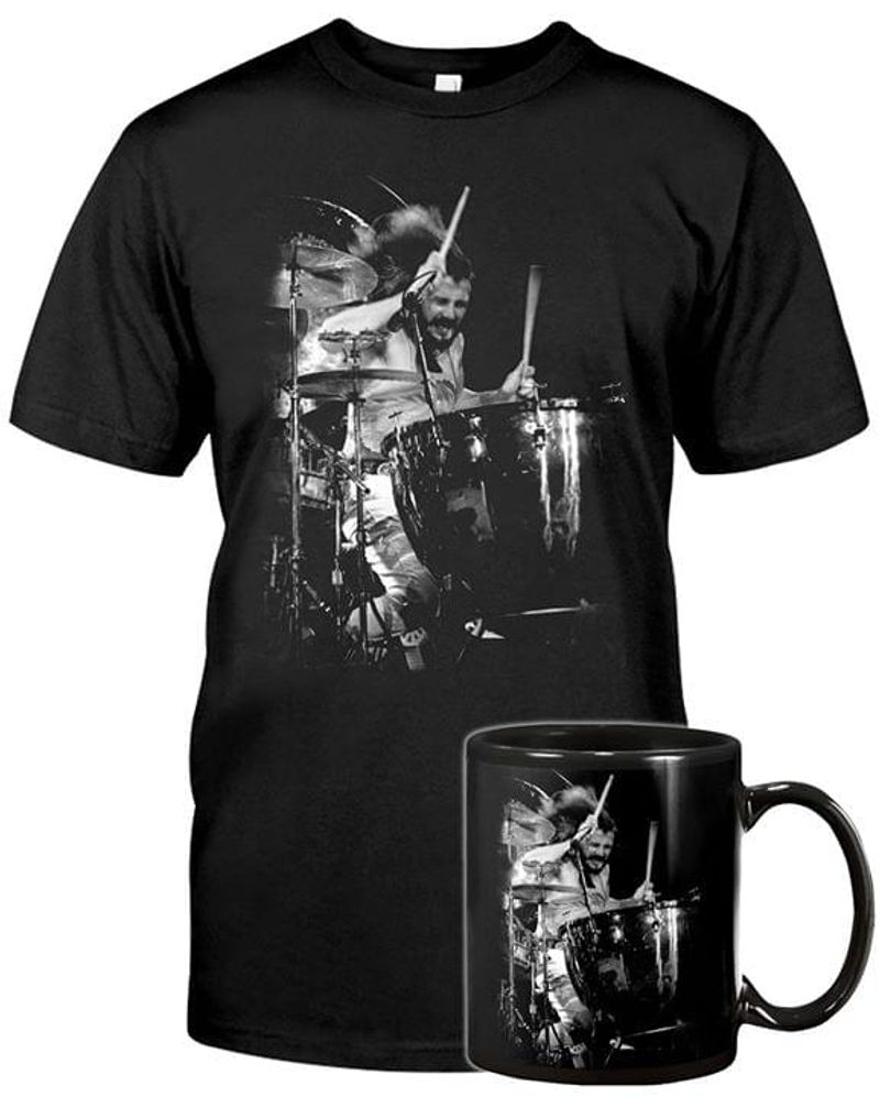 Drummers Vintage Perfect For Casual Wear For You And Friends Black T Shirt S-6xl Mens And Women Clothing