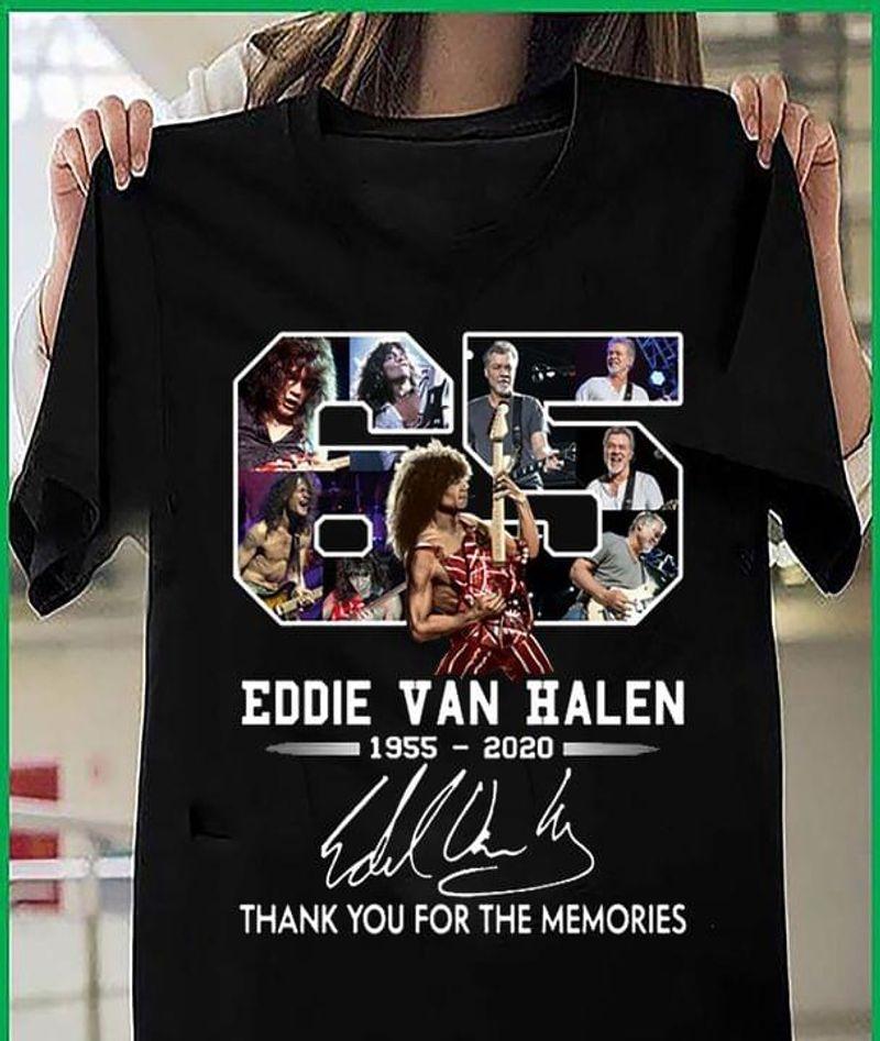 Eddie Van Halen 1955-2020 T-shirt Eddie Van Halen Signed Tee For Fans Black T Shirt Men And Women S-6XL Cotton