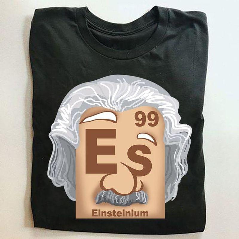 Einsteinium Periodic Table Of Elements T-shirt Einsteinium Element Science Lover Black T Shirt Men And Women S-6XL Cotton