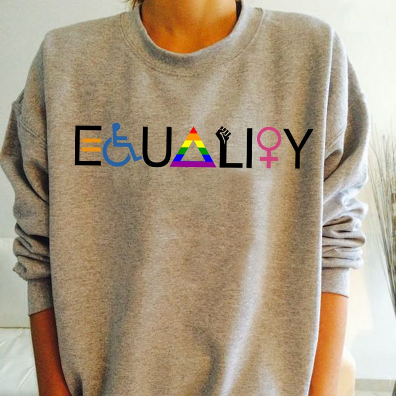 Equality For Disability Lgbt Sweat Shirt Grey