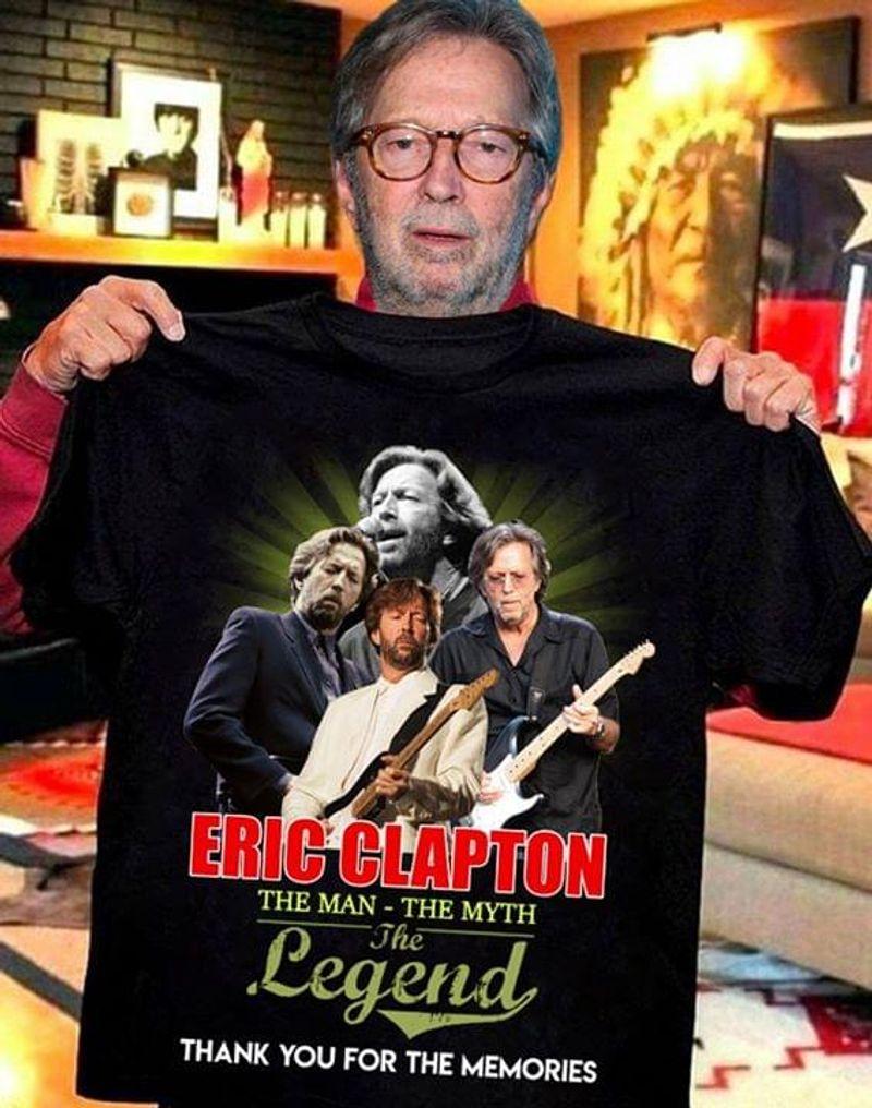 Eric Clapton Fans The Man - The Myth The Legend Thank You For The Memories Signature Black T Shirt Men/ Woman S-6XL Cotton