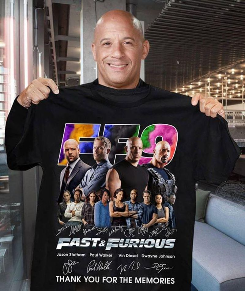 Fast And Furious 9 Signature Thank You For The Memories T Shirt Black