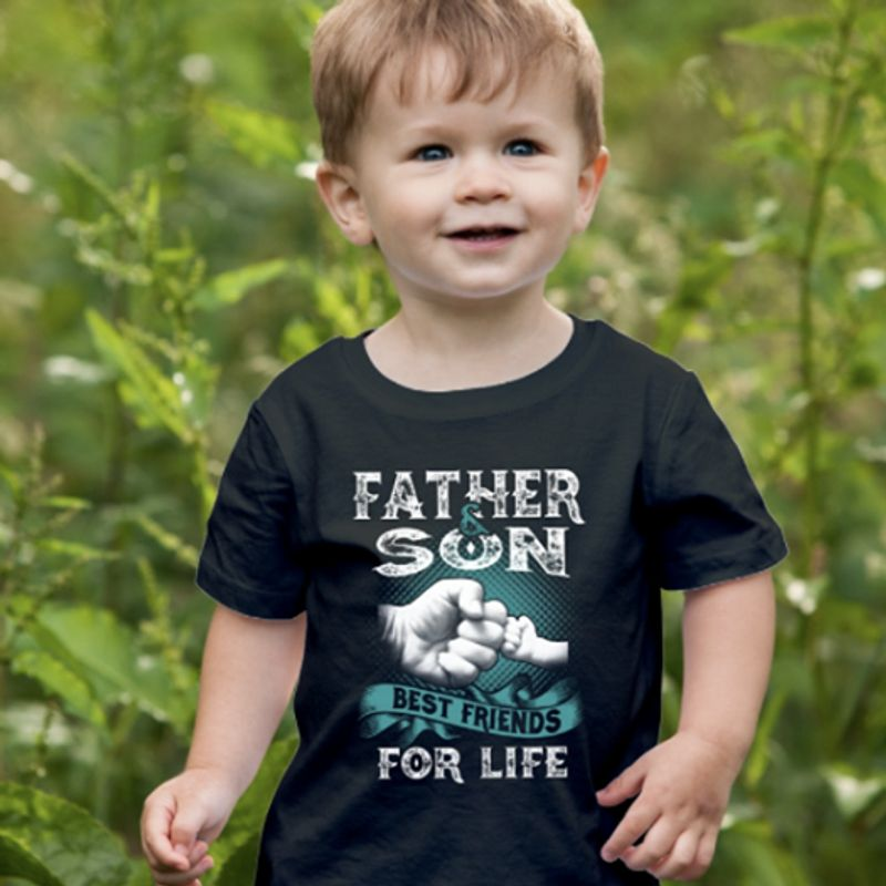 Father Son Best Friends For Life Tshirt Black A2
