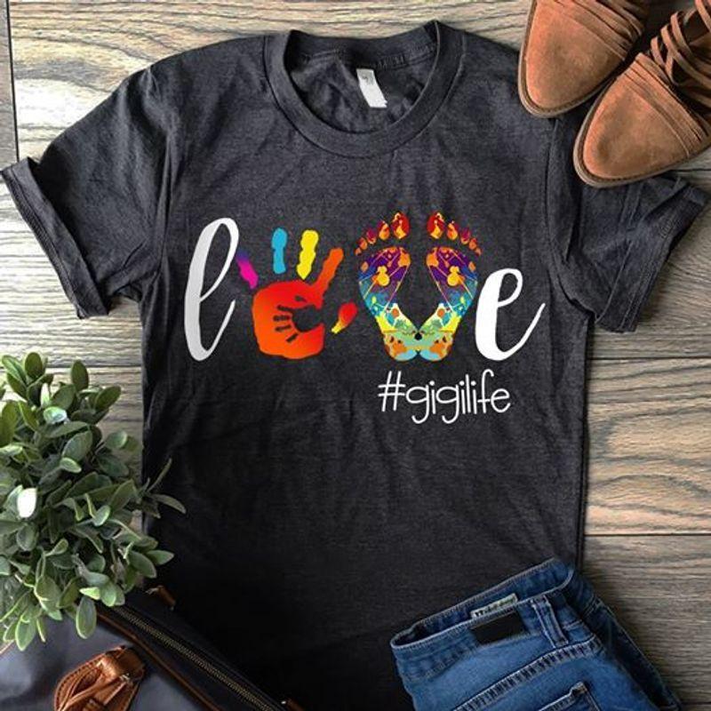 Feet Love Gigilife T-shirt Black B7