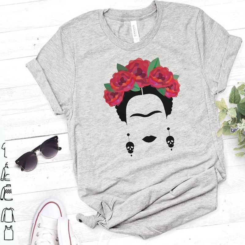 Frida Kahlo T-Shirt Grey