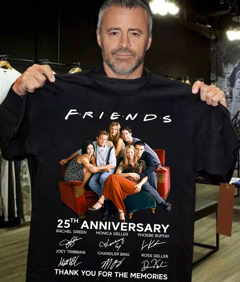 Friends 25th Anniversary Thank You For The Memories  T-shirt Black B1