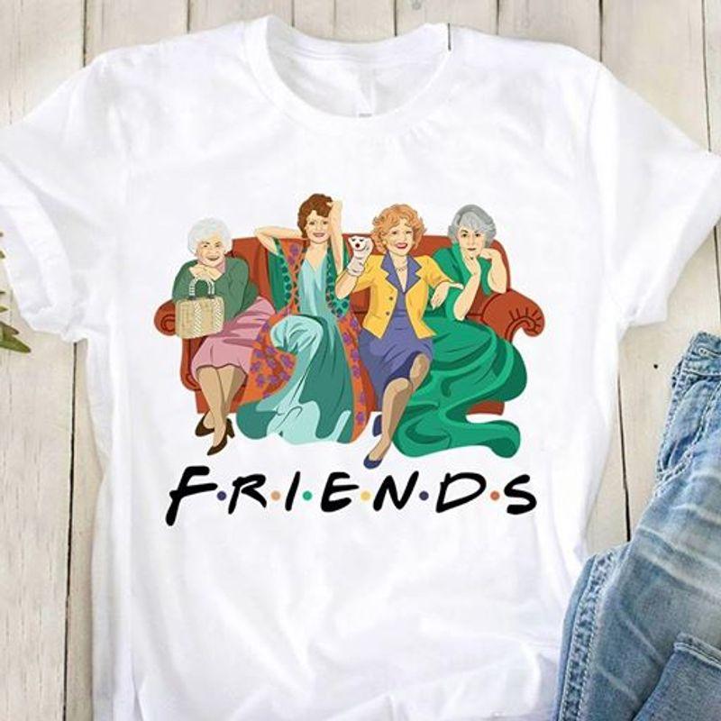 Friends Golden Girls T Shirt White