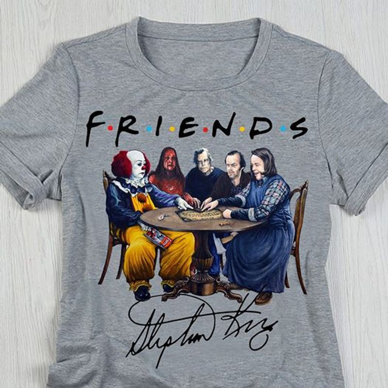 Friends Stephen King T-shirt Grey A4