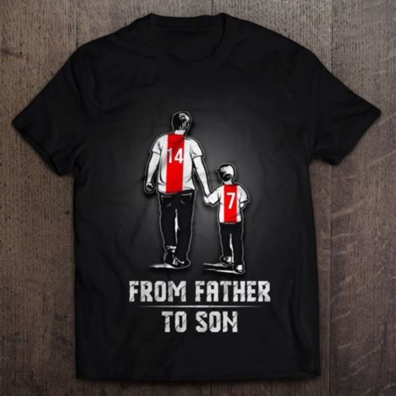 From Father To Son T-shirt Black B7