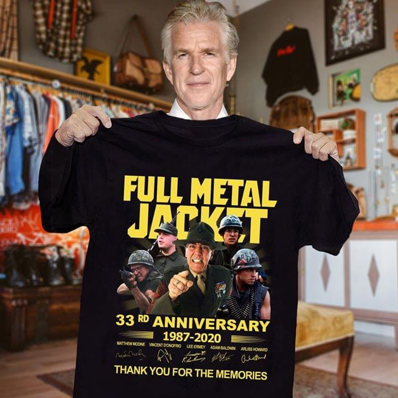Full Metal Jacket Fans 33rd Anniversary 1987 2020 Signature Thank You For The Memories Black T Shirt Men And Women S-6xl Cotton
