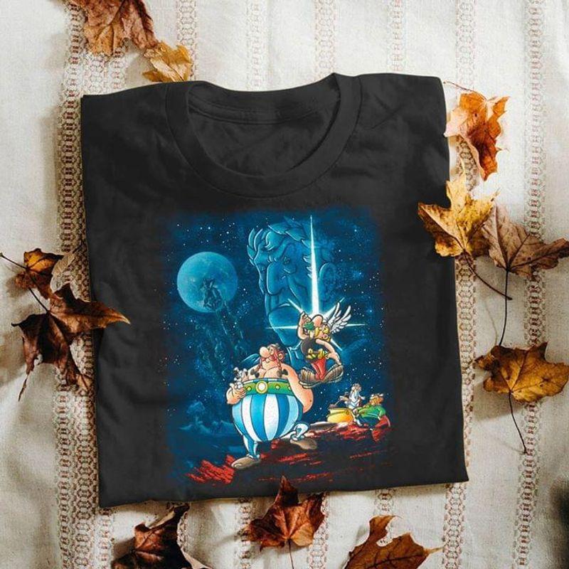 Gaul Wars Art Black T Shirt Men/ Woman S-6XL Cotton