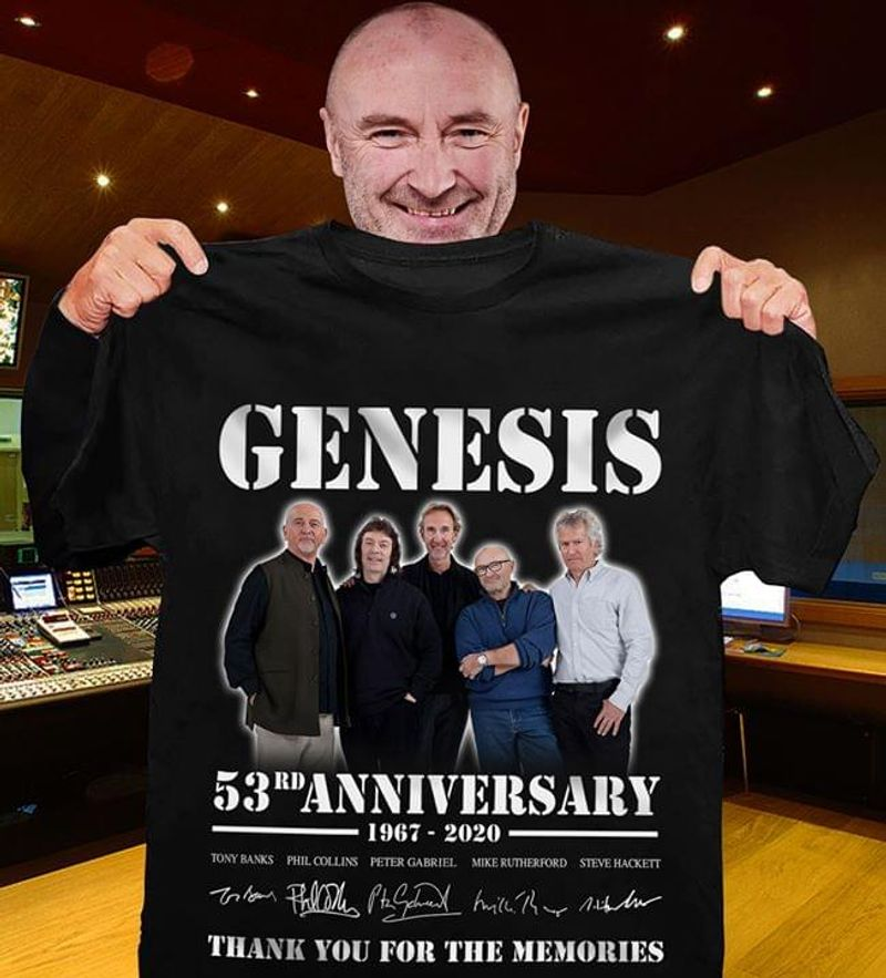 Genesis 53th Anniversary Thank You For The Memories Vintage A Great Gift For Fans Black T Shirt S-6xl Mens And Women Clothing