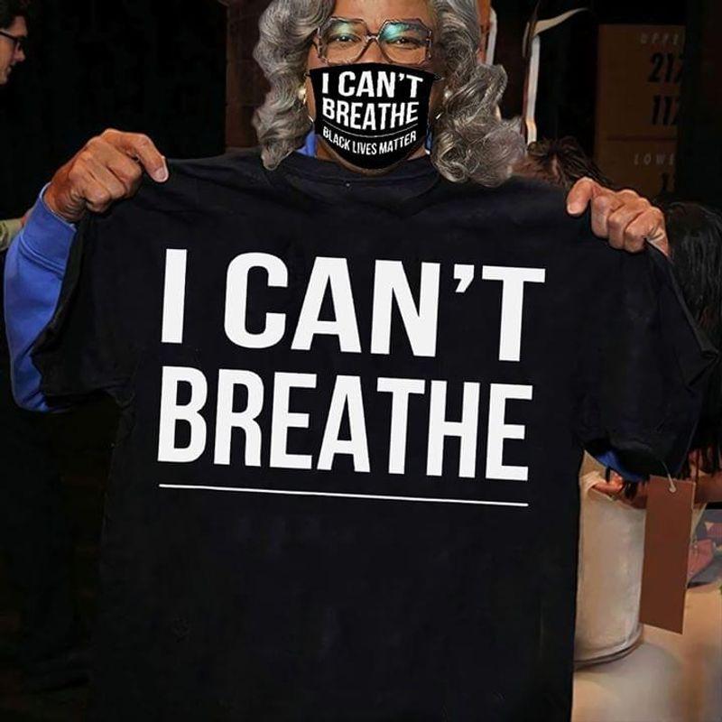George Floyd I Can't Breathe Black T Shirt Men/ Woman S-6XL Cotton