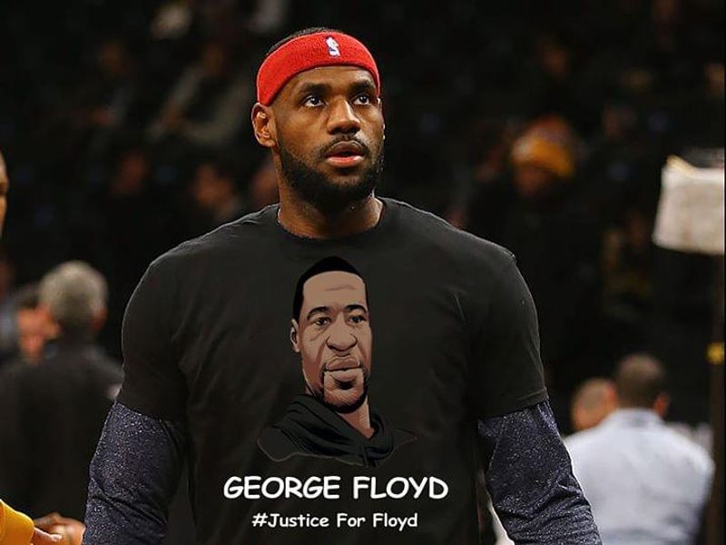 George Floyd Justice For Floyd Black Lives Matter Black T Shirt Men/ Woman S-6XL Cotton
