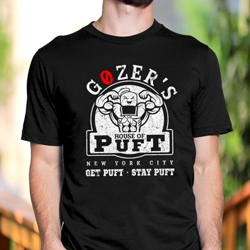 Gozers House Of Puft New York City Get Puft Stay Puft  T-shirt Black B1