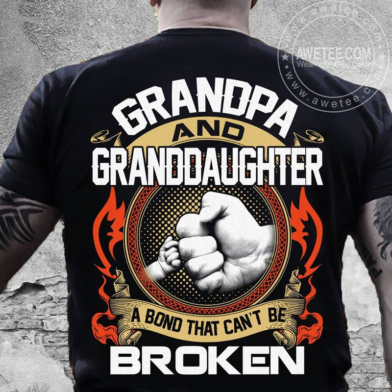 Grandpa And Granddaughter A Bon That Cant Be Broken T-shirt Black B7