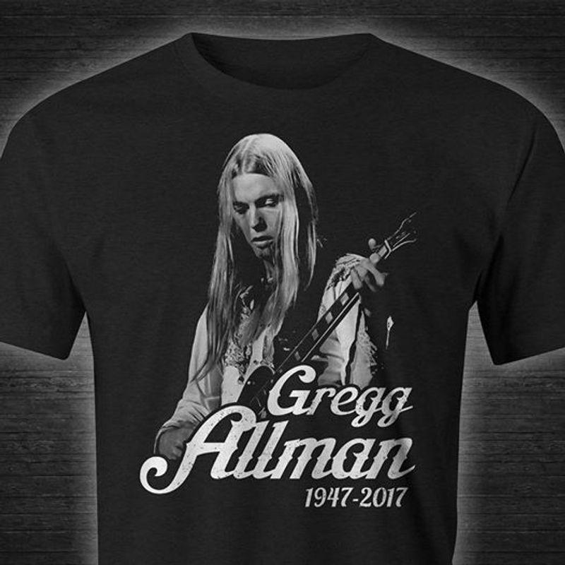 Gregg Allman 1947 2017 T-shirt Black A8