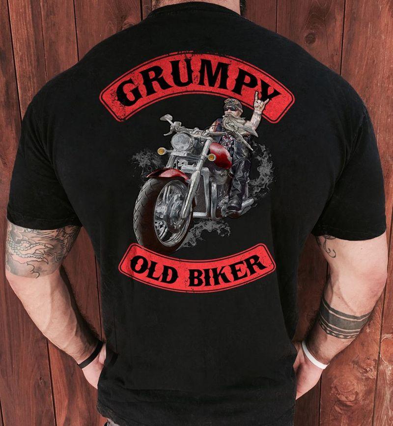 Grumpy Old Biker T-shirt Black A8