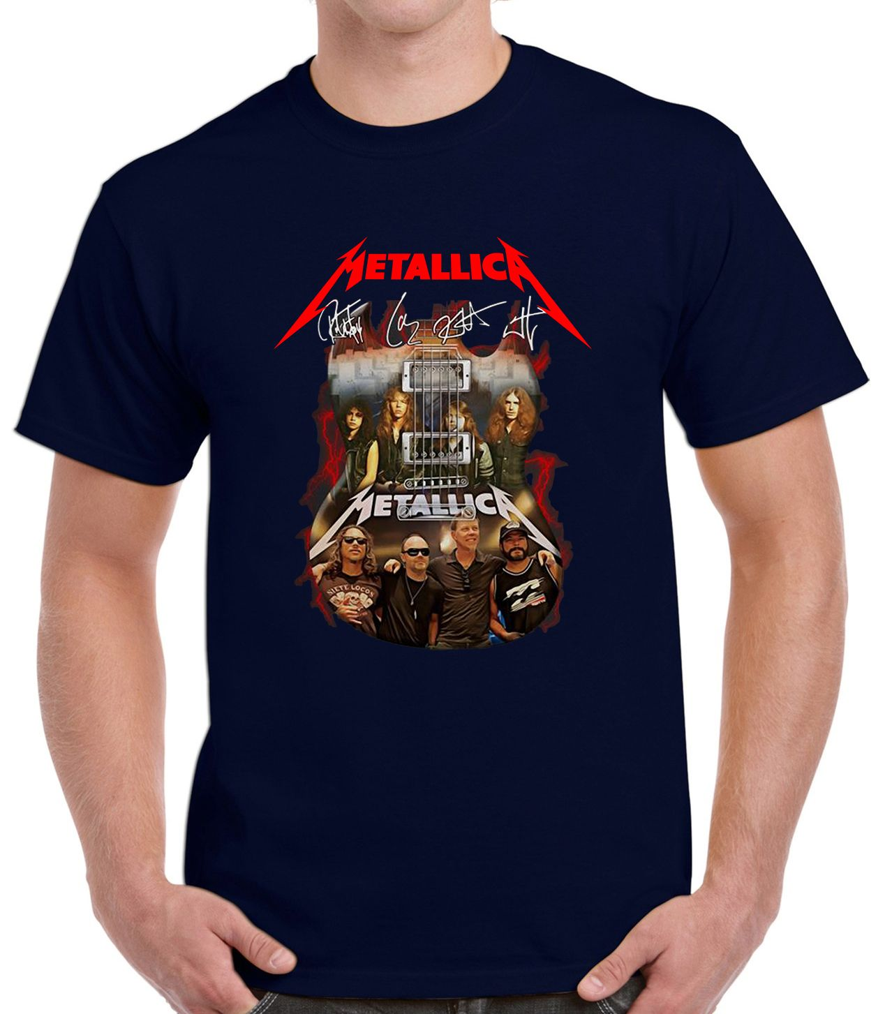Guitar Metallica Signatures T-Shirt