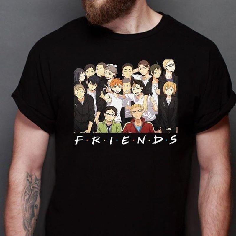 Haikyuu!! Manga Friends Perfect Gift For Haikyuu!! Fans Black T Shirt Men And Women S-6XL Cotton