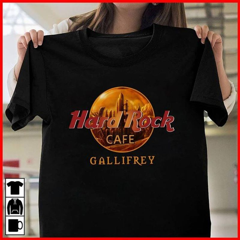 Hard Rock Cafe Gallifrey Black T Shirt Men/ Woman S-6XL Cotton