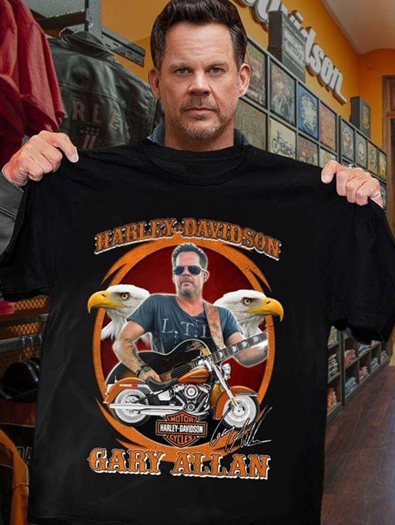 Harley Davidson Gary Allan Black T Shirt Men/ Woman S-6XL Cotton