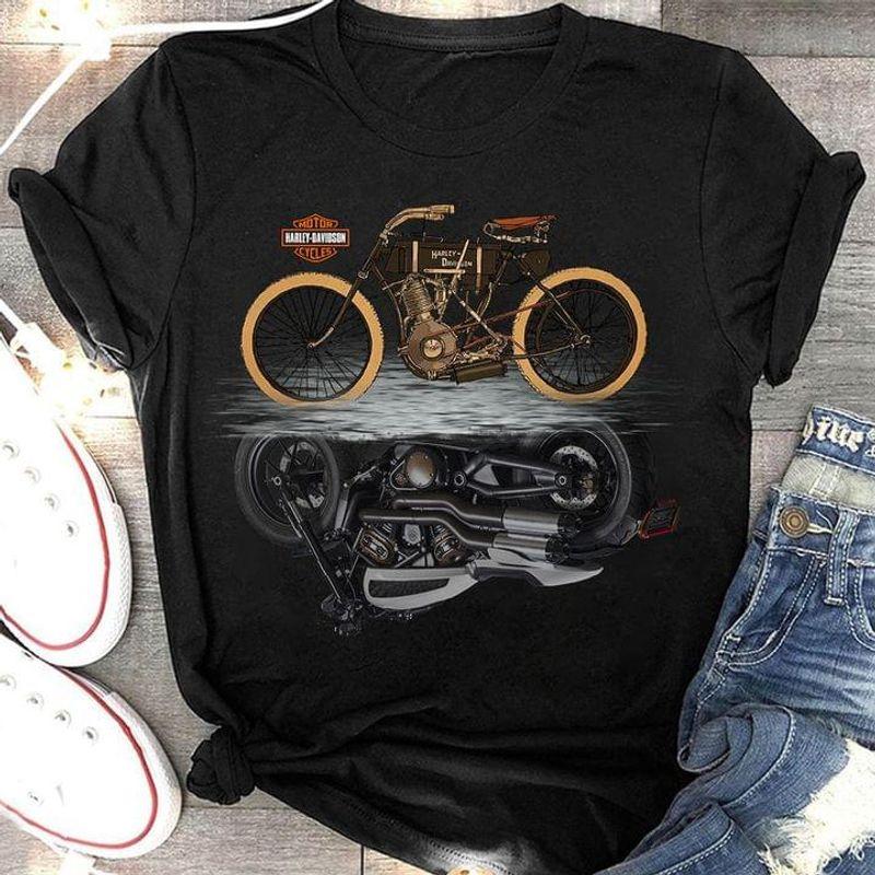Harley Davidson Shadow Motor Lover Gift Biker Gift Black T Shirt Men And Women S-6XL Cotton