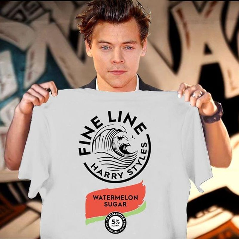 Harry Styles Fine Line Watermelon Sugar Best Design For Fans Music Lover WhiteT Shirt Men/ Woman S-6XL Cotton