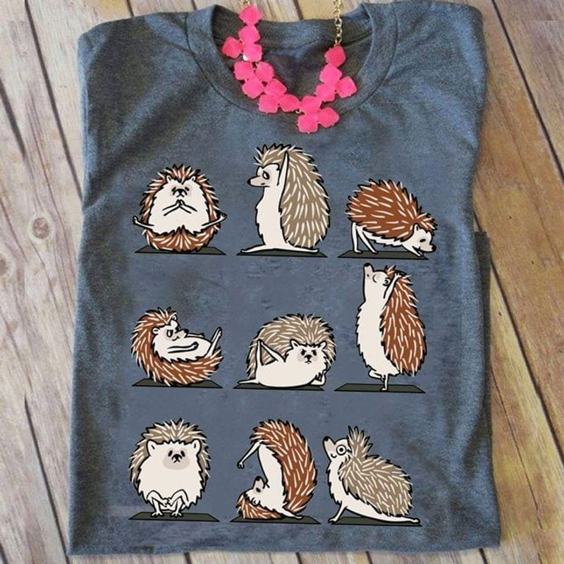 Hedgehog Nine Action Perfect Gift For Animal Lover Grey T Shirt Men And Women S-6XL Cotton