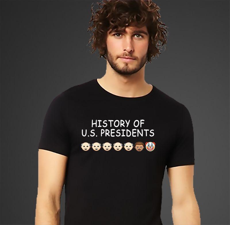 History Us Presidents T-shirt Black A5