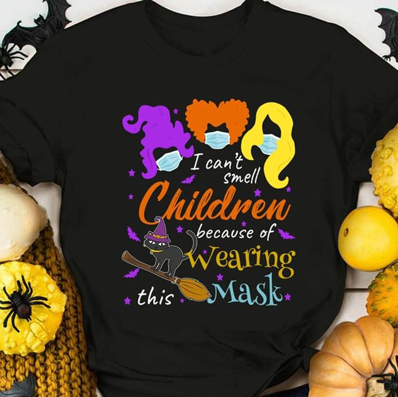 Hocus Pocus I Can't Smell Children Funny T-shirt Social Distancing Quarantined Halloween Gift Black T Shirt Men And Women S-6XL Cotton