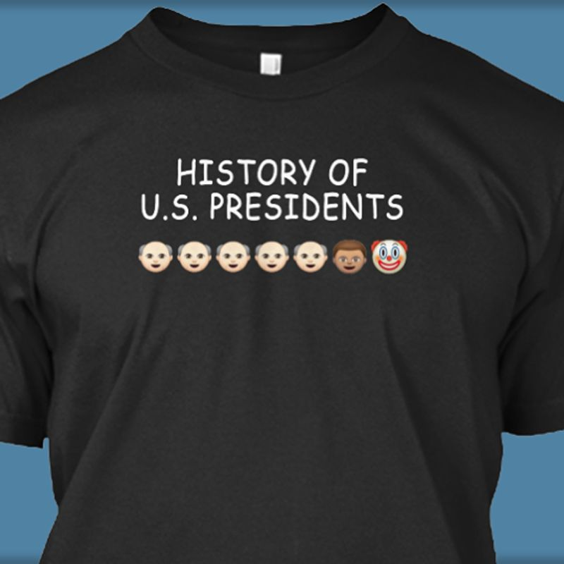Hsitory Of Us Presidents  T-shirt Black B1