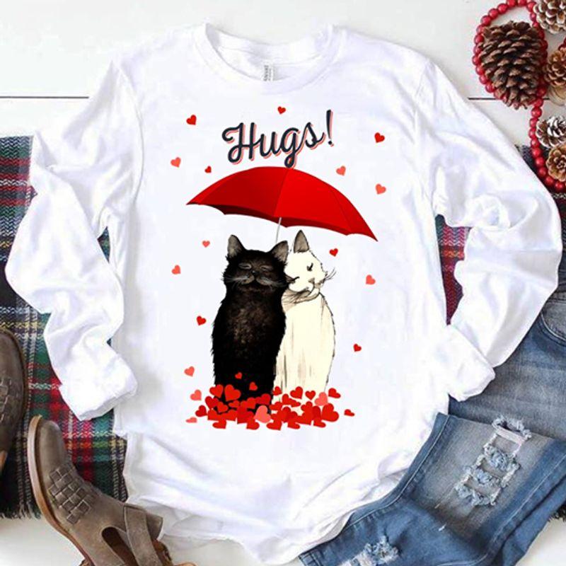 Hugs Cats Love  T Shirt White A9