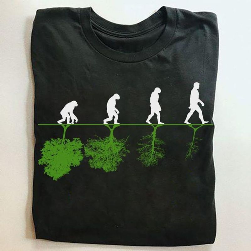 Human And Tree Shirt In Science We Trust Awesome Design Art Printed Black T Shirt Men And Women S-6XL Cotton