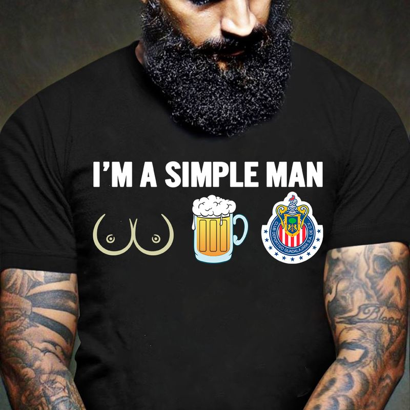 I Am A Simple Man  T-shirt Black B1