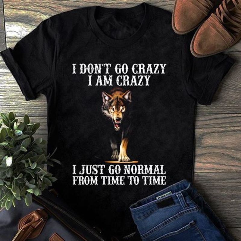 I Don T Go Crazy I Am Crazy I Just Go Normal From Time To Time  T-Shirt Black A9