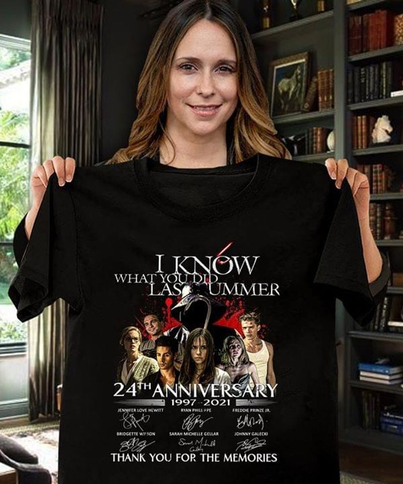 I Know What You Did Last Summer Fan Club 24th Anniversary Signature Thank You For The Memories Black T Shirt Men And Women S-6XL Cotton