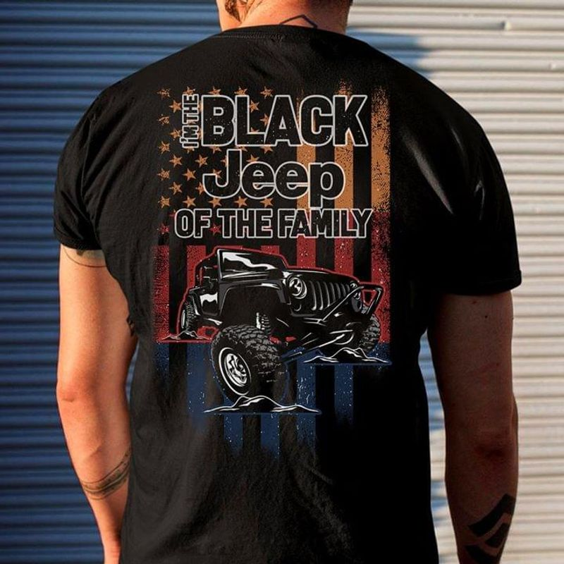 I'm The Black Jeep Of The Family Back Version Black T Shirt Men/ Woman S-6XL Cotton