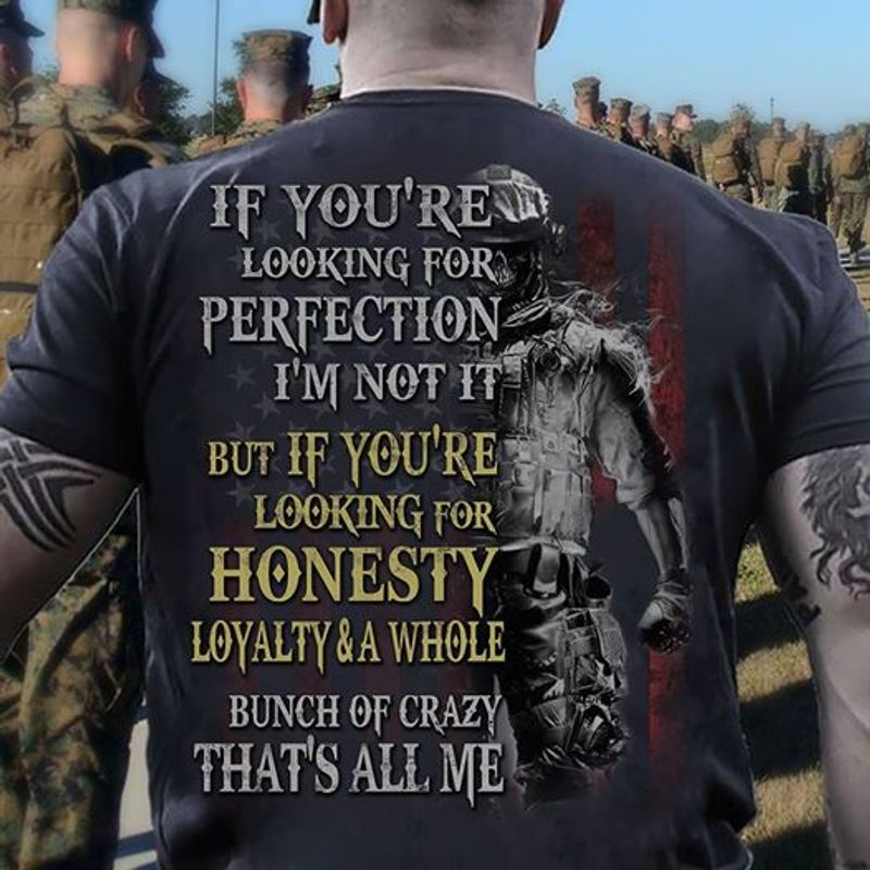 If Youre Looking For Perfection Im Not It But If Youre Looking For Honesty Loyalt T-shirt Black B7